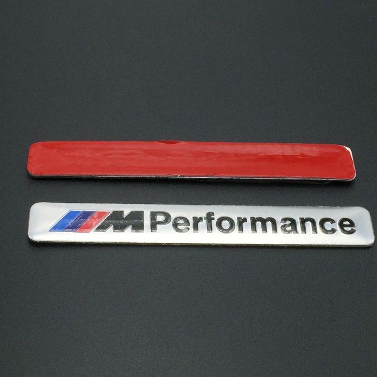 Car Styling 8.5x1.2cm Motosport M Performance Car Door Sticker Badge For BMW Decal m3 m5 X1 X3 X5 X6 E36 E39 E46 E30 E60 parking