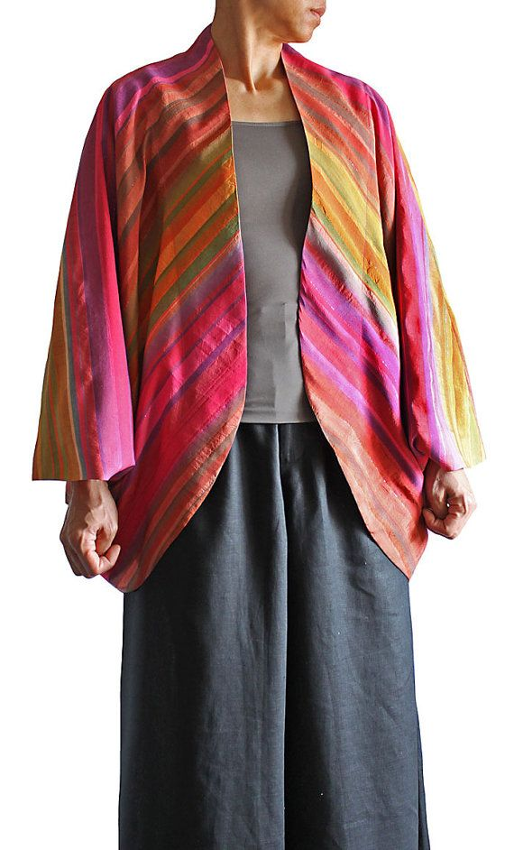 Hey, I found this really awesome Etsy listing at https://www.etsy.com/listing/124664144/gradation-color-thai-silk-cocoon-jacket