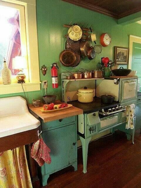 Vintage Country Kitchen Green 1883 best kitchens images on pinterest   ideas, kitchen and