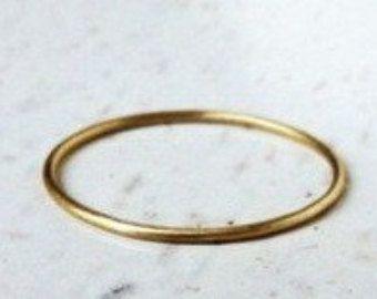 12 mm Runde 14K Gelbgold Eheringe zarte Ring Hochzeit