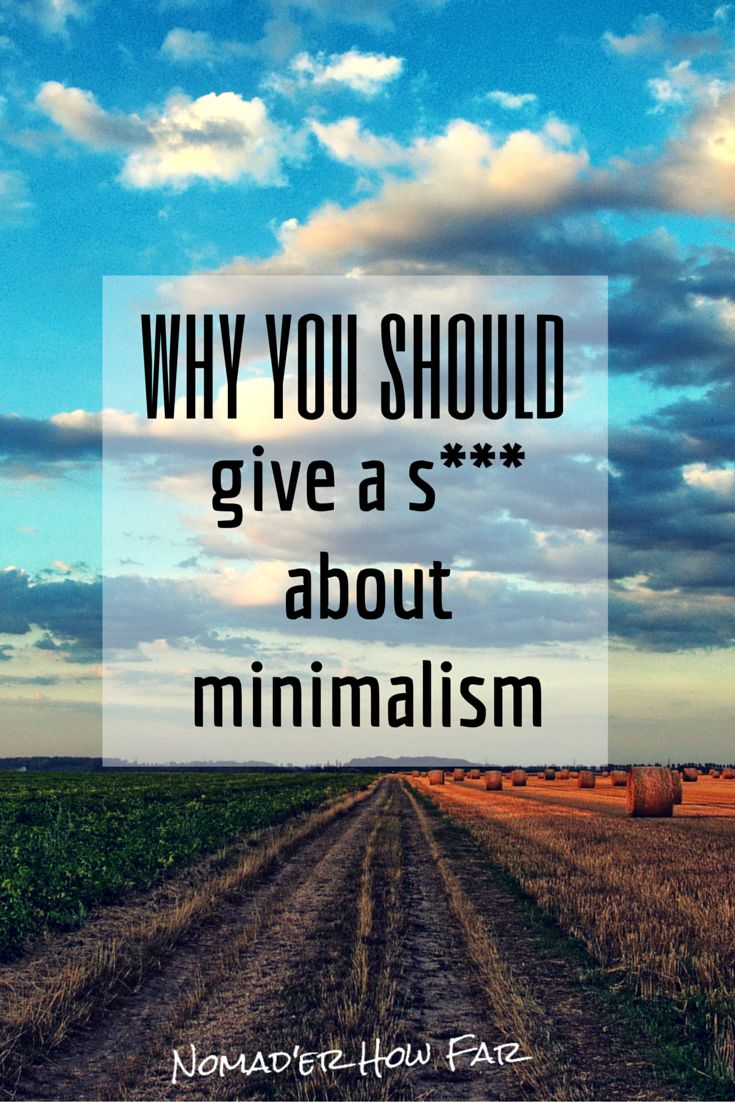 Minimalism is more than just a passing fad...it has real implications for the future of this planet.