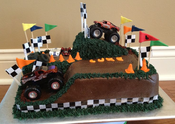 Monster truck cake Birthday Cake Ideas Pinterest