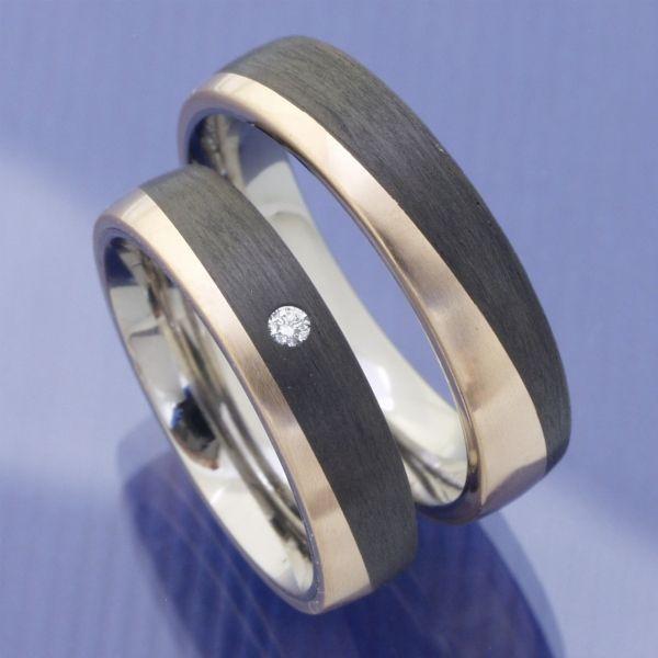 Bronze Titan Carbon Trauringe P7123776