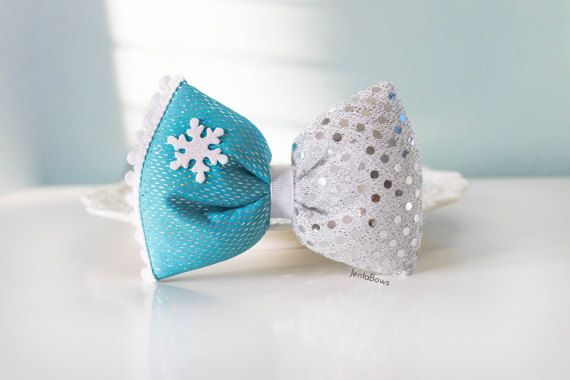 Frozen Hair Bow  Elsa  Disney Princess Hair Accessory