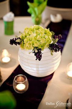 paper lantern centerpieces with flowers - Google Search