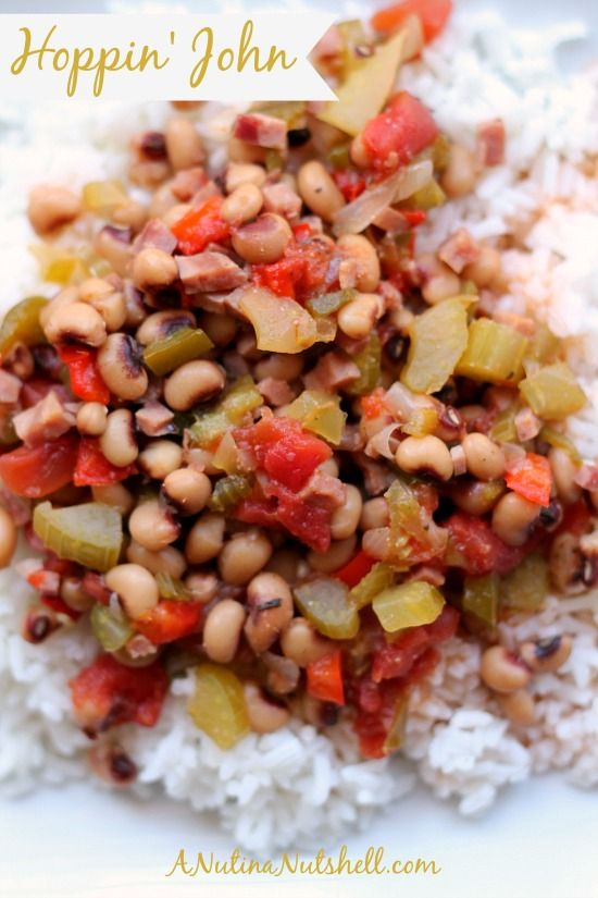 The southern tradition of eating Hoppin' John on New Year's Day is thought to bring a prosperous year filled with luck. Try this easy Hoppin John recipe!