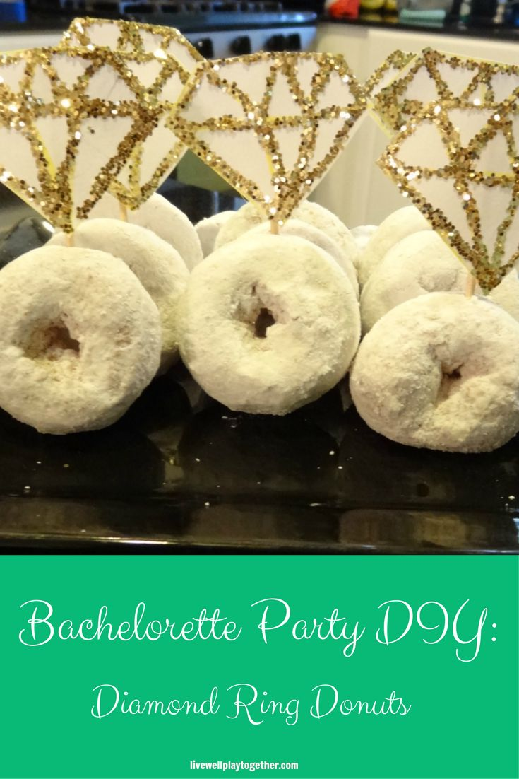 DIY Diamond Ring Donuts: A fun and simple wedding shower or bachelorette party treat!