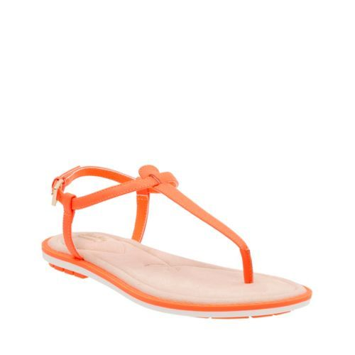 Seattle Spice Bright Orange Leather - Clarks® Sandals for Women - Clarks®  Shoes