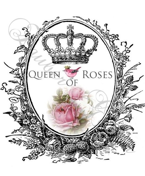Queen Of Roses - Transfer/Printable