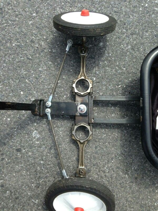 Front axle of the custom wagon