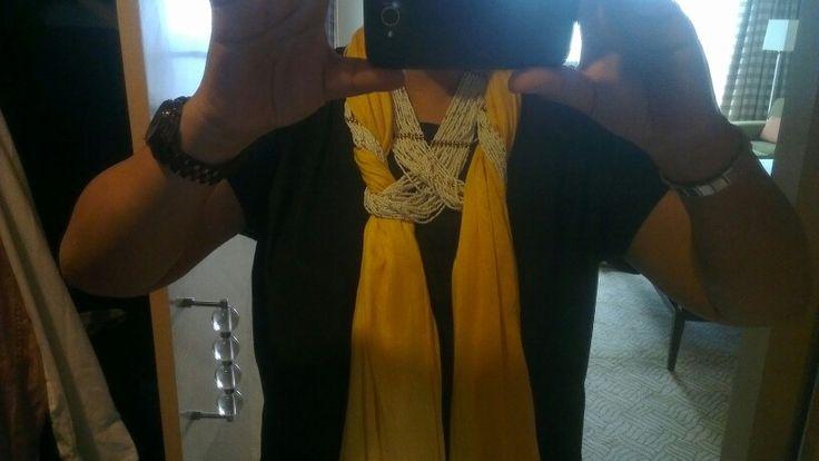 Two necklaces one scarf #spirofthemomentcrazyidea
