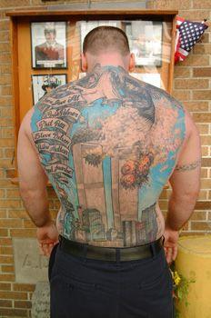 Buen slideshow de tatuajes en esta revi de NYT que conmemoran el 9/11 gringo.