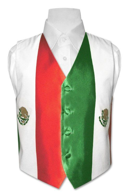 Boy's Mexican Flag Dress Vest size 8
