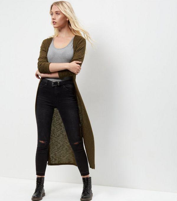 Tall Khaki Longline Cardigan | New Look