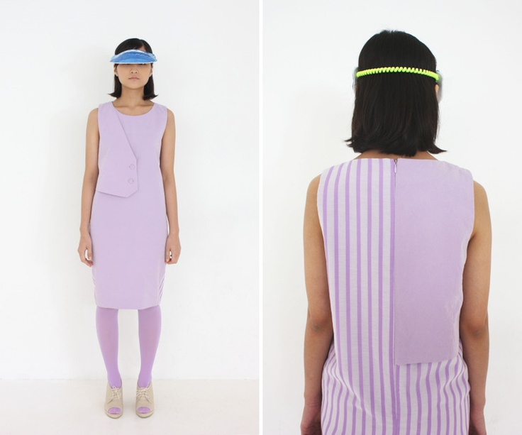 al,thing - Purple stripes onepiece