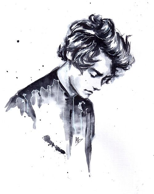 that dude from One Direction that i always draw and um drawing process video