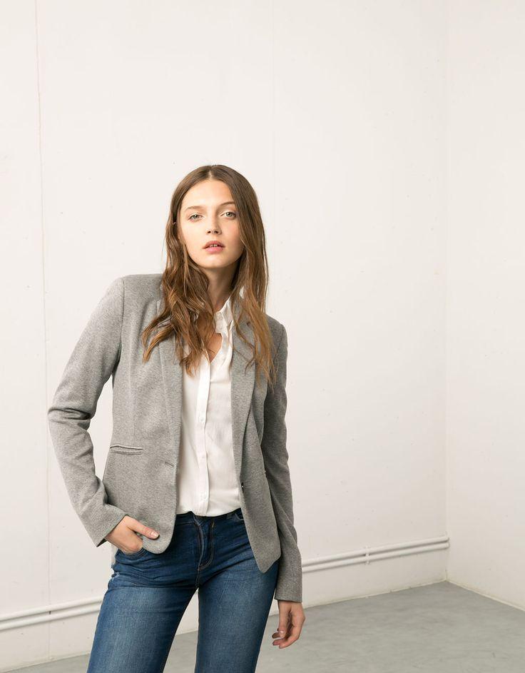 Bershka piqué blazer - Blazers & Kimonos - Bershka United Kingdom