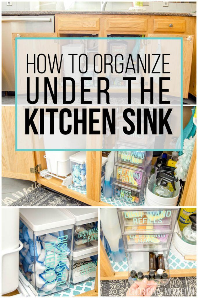 Under the Sink Organization Before and After! Organizing