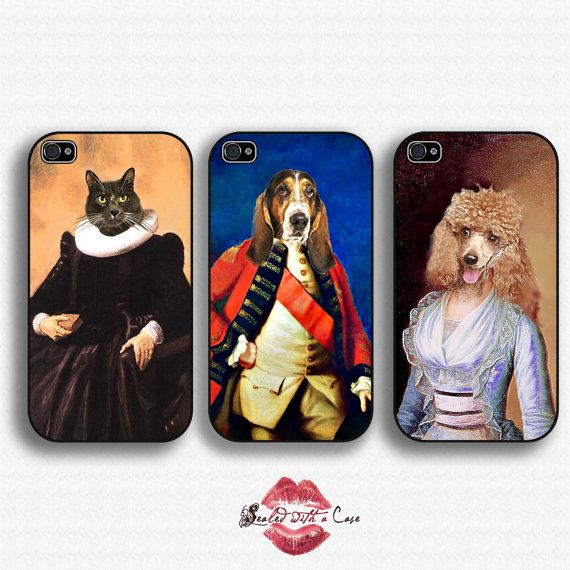 Custom Renaissance Pet Portraits - iPhone 4 Case, iPhone 4s, iPhone 5/5S/5C and now iPhone 6 cases!! And Samsung Galaxy S3/S4/S5/S6