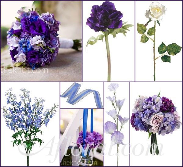 Carla Purple Blue and White Wedding Inspiration Board
