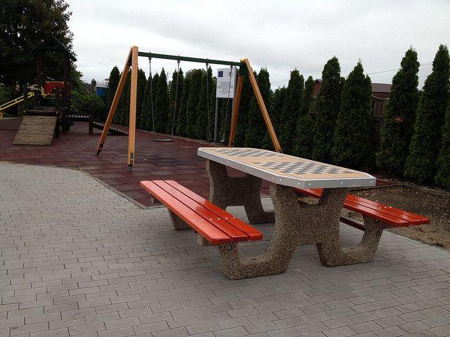 Let's play ;) garden chess Table http://cityarch.eu/