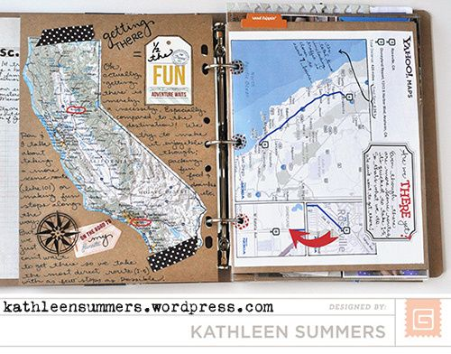 Travel Smash Book - lots of page ideas!