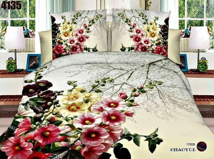 Eid discount sale new design 3d double bedsheet bed