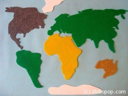 фетр животные карта мира игрушки