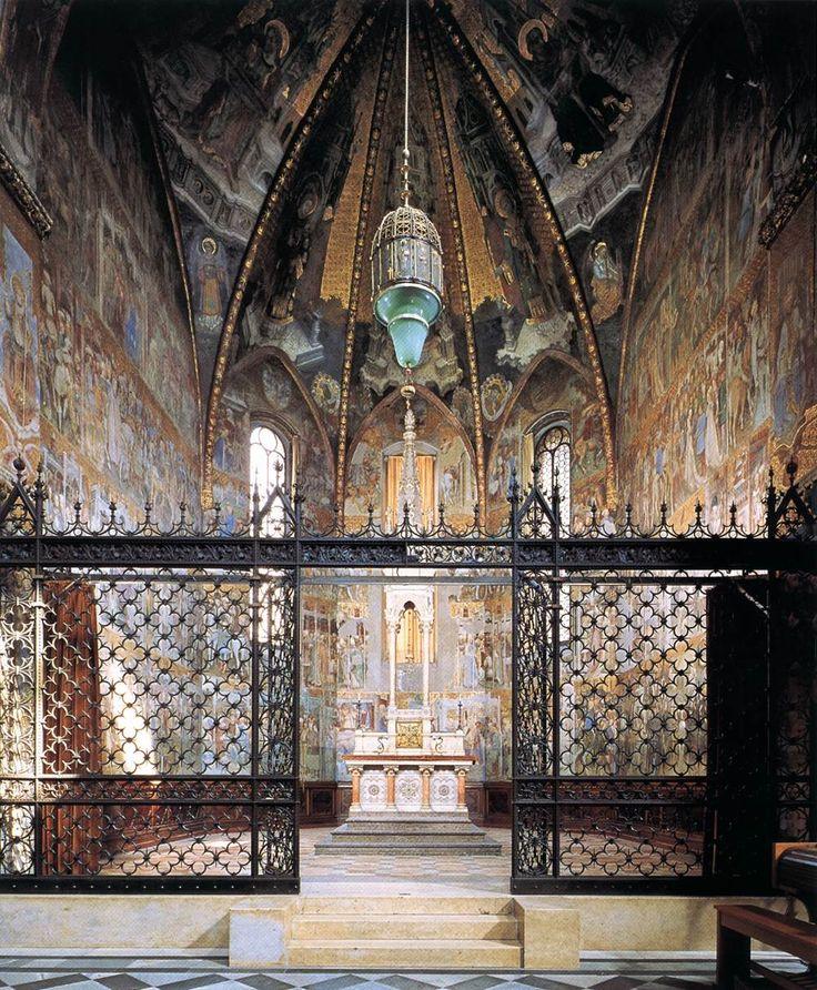 Nella Cappella Teodolinda è conservato anche il grosso e grezzo sarcofago dove è conservata le regina, il marito e il figlio