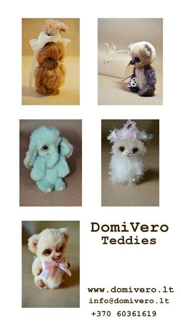 DomiVero teddies designed by Rasa Iljiniene. www.domivero.lt