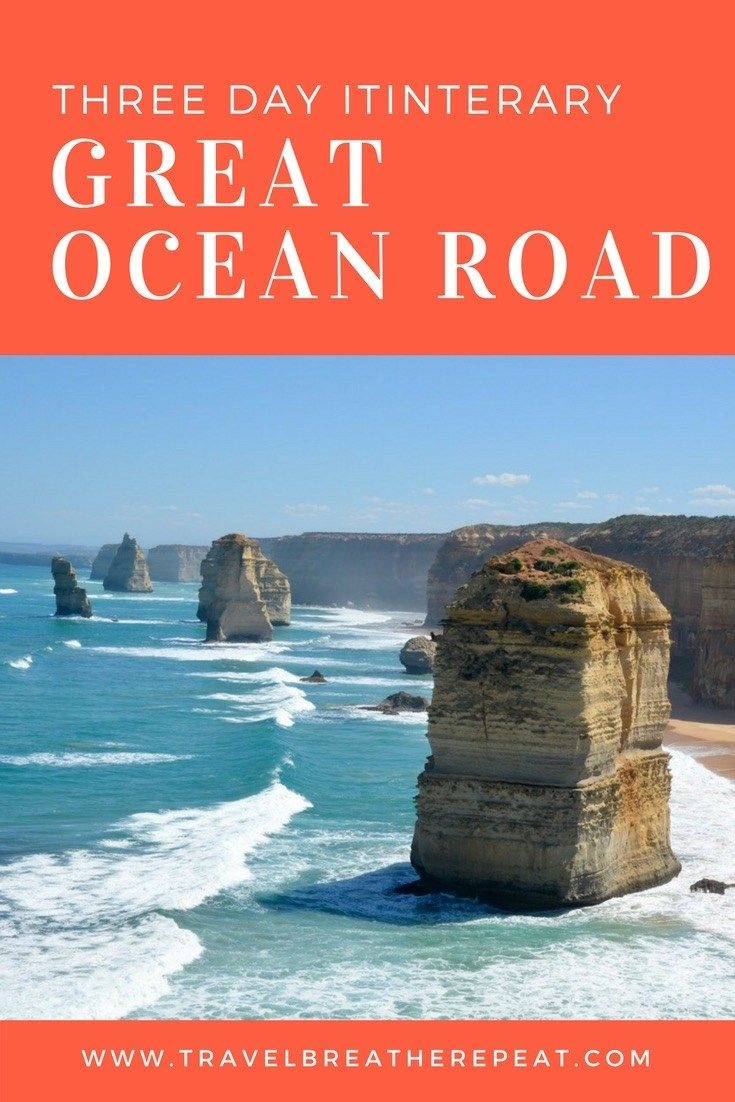 Road trip itinerary for three days on the Great Ocean Road in Australia