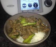 Beef and Bok Choy in Oyster Sauce