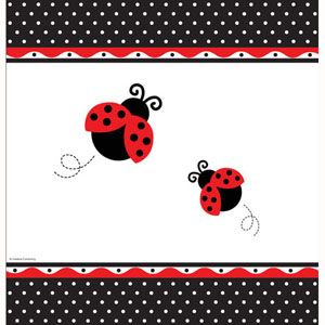 20725019 - LadyBug Tablecover Please note: approx. 14 day delivery time. www.facebook.com/popitinaboxbusiness