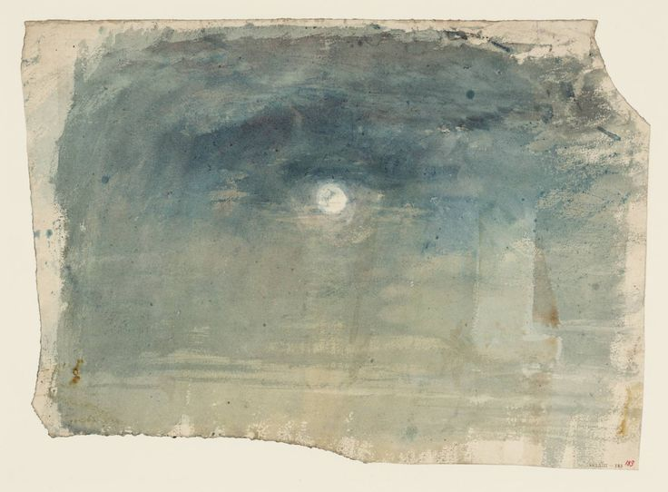 Joseph Mallord William Turner 'Moonlight, with Shipping', c.1820–30