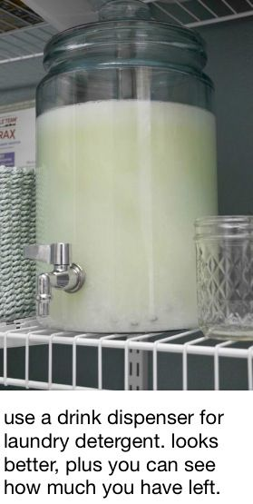 This is probably not the best way to store laundry detergent especially when you…