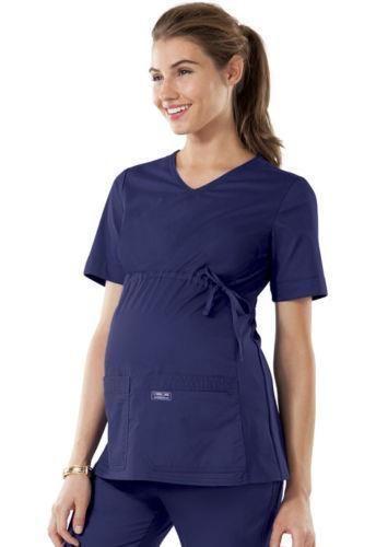 2907c81be66 eBay #Sponsored Cherokee Scrub Workwear Core Stretch Maternity Top 4708  NAVW Navy XLARGE