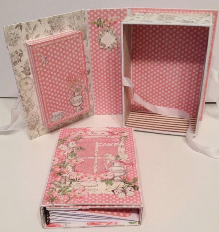 Botanical Tea shadow book box with a recipe album inside - bjl