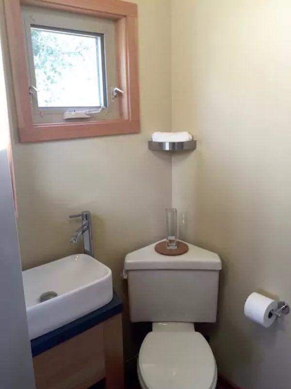 Tiny House Vacation In La Junta, Colorado    Corner Toilet...great