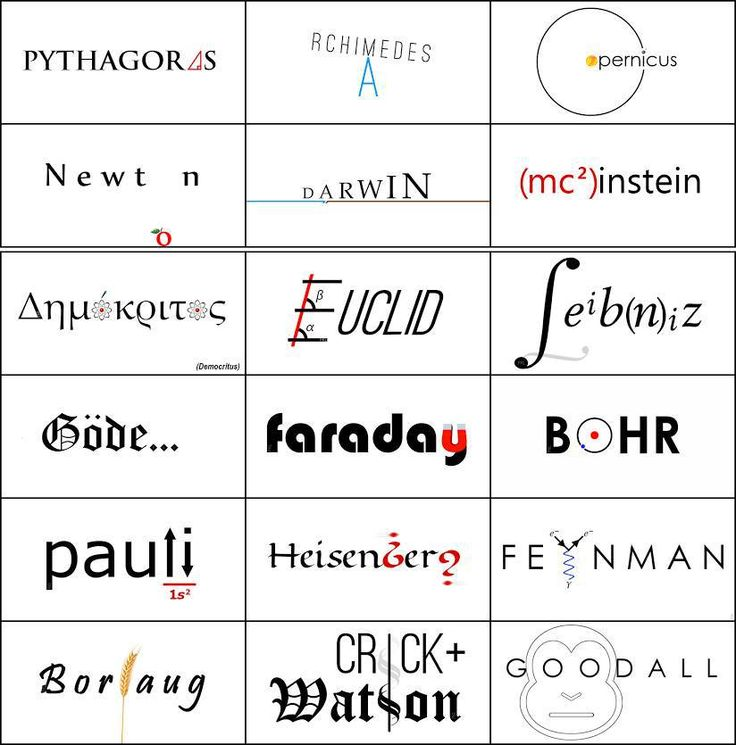 If scientists had logos.
