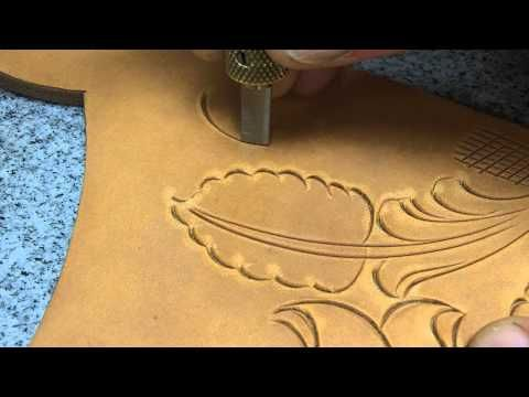 How to carve leather by Bruce Cheaney carving leather Part 2