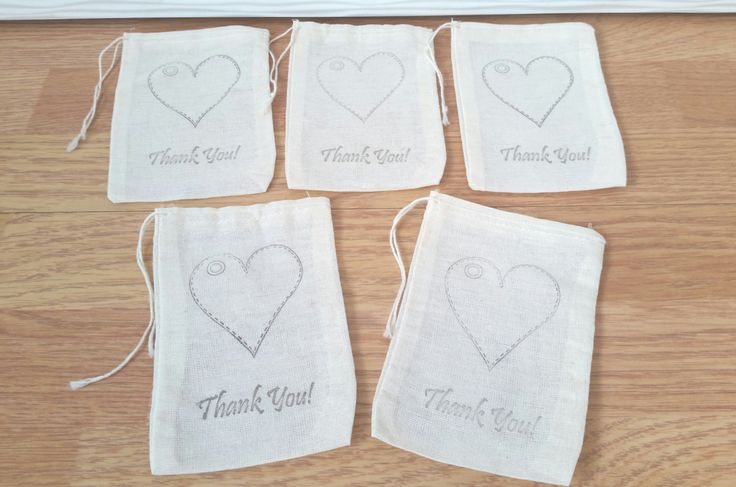 5 pcs Organic Cotton Muslin Bags 9 x 15cm - hand stamped  logo - Party favours stocking filler wedding favour- drawstring bag pouches by CreativeOccasionsuk on Etsy