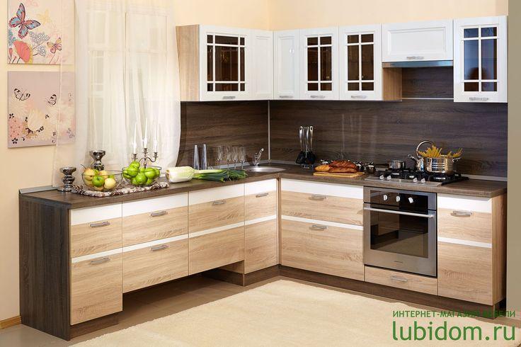 кухни «Оливия» в цвете «Белый глянец/Сонома Эйч Светлая» по лучшим ценам от производителя | Каталог мебели от производителя «Любимый Дом»