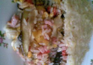 Zapečený lilek s rýží
