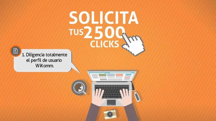 Pasos para Obtener tus 2500 Clicks en WiKomm