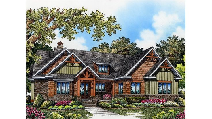 Craftsman Style House Plan 3 Beds 2 Baths 1743 Sq/Ft