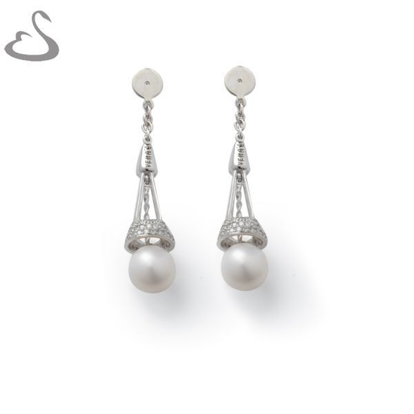 925 Sterling Silver, Cubics and Fresh Water Pearls. Code: ER-138. Company: Vera's Bridal Collection. Website: www.verasbridalcollection.co.za.