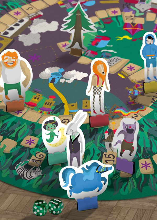 Star Manor Board Game by Lilla Bölecz, via Behance