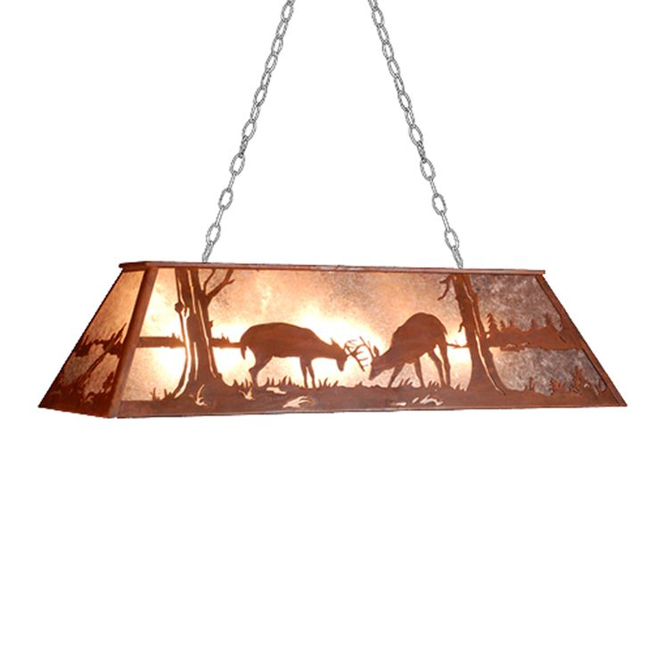 shop meyda tiffany custom 79726 9 light battling bucks pool table light rust at atg