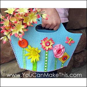 Download Free! Spring Fling Felt Purse Pattern Sewing Pattern | Featured Downloadable Sewing Patterns | YouCanMakeThis.com