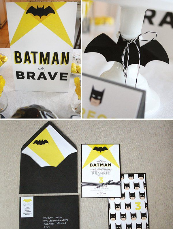batman birthday party printables and invitation collection